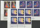 SG 1376-8 Christmas 1985 set of 3 plate blocks of 6 (NF1/156)